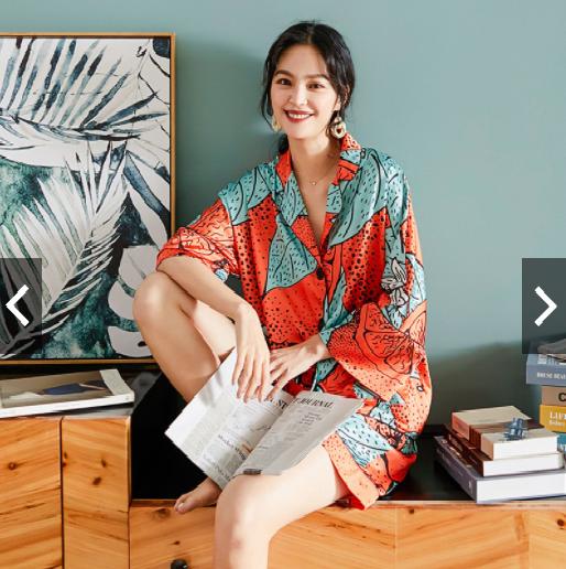shorts silk pajama